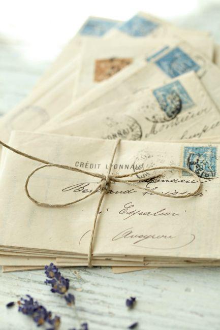 Antique French Letter Bundle Vintage Lettering Thoughtful Gifts For Him Old Letters