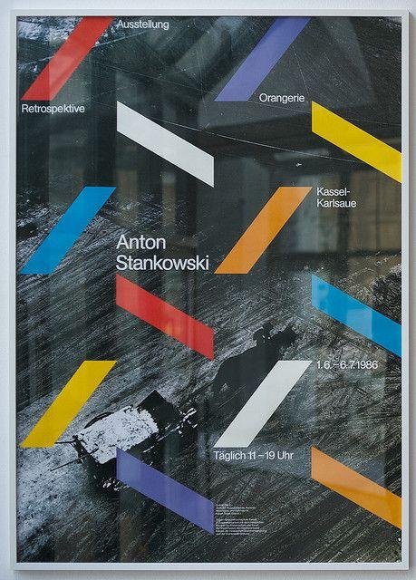 Gunter Rambow: Ausstellungsplakat Anton Stankowski, 1986 by ReneSpitz, via Flickr