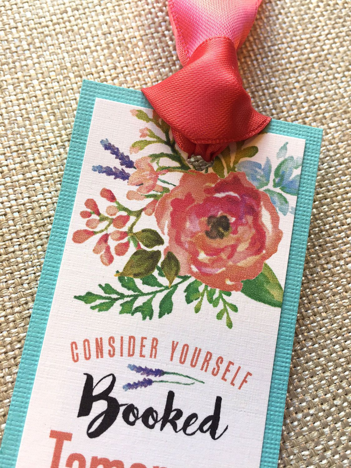 Watercolor Floral & Photo Wedding Save the Date Bookmark... SAMPLE ...