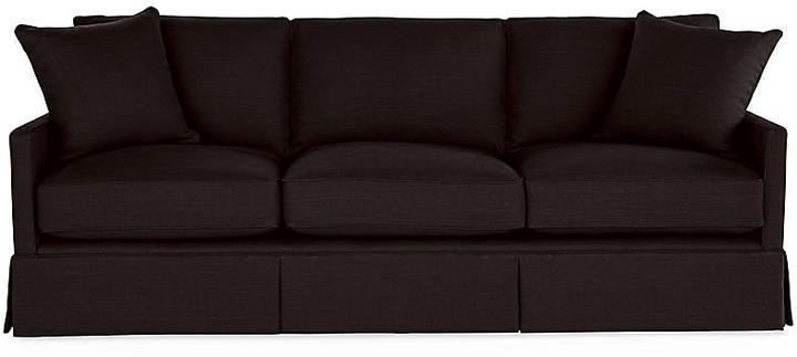 Auburn Sofa Black Linen Miles Talbott Black Linen Black
