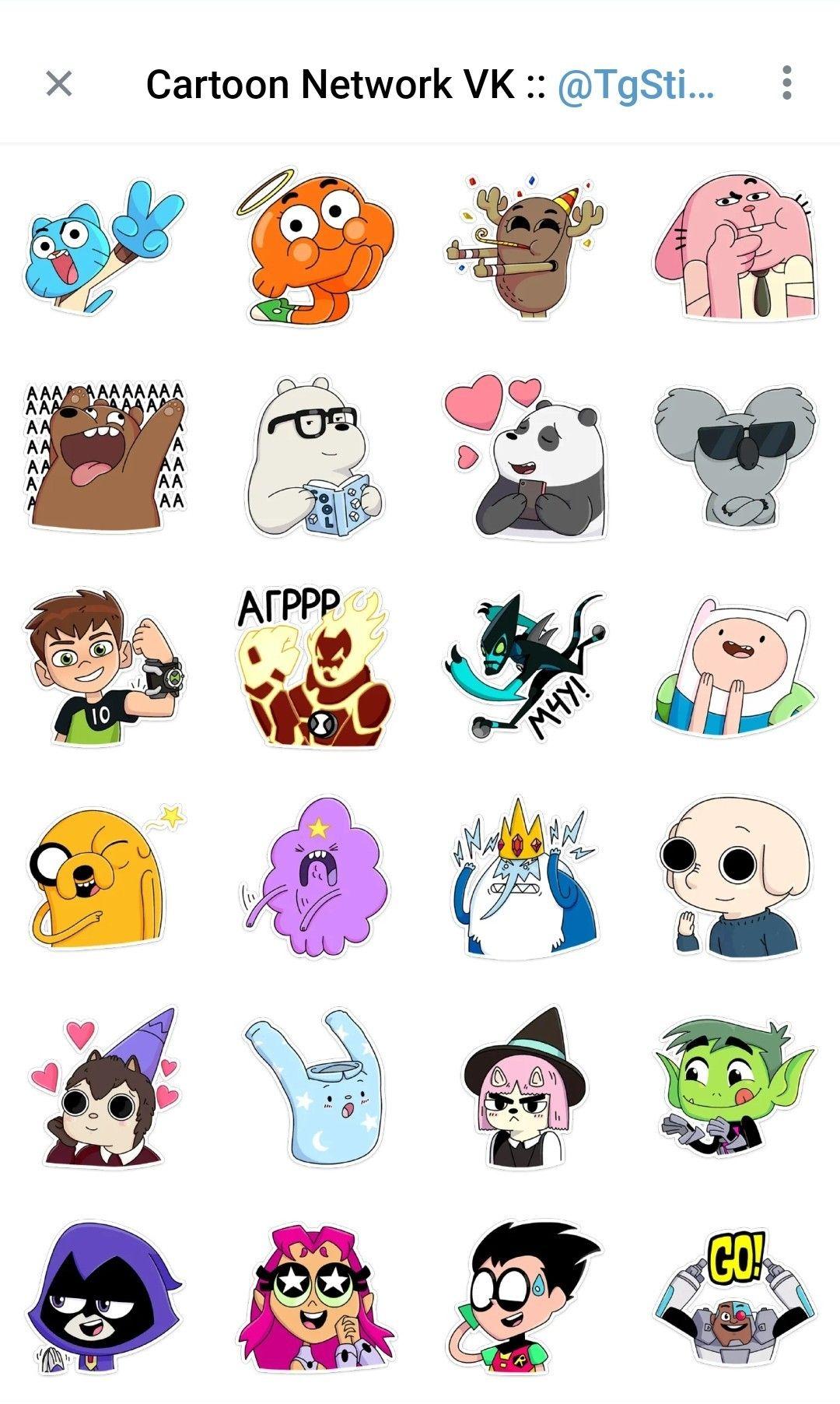 Cartoon network vk telegram sticker pack cute laptop