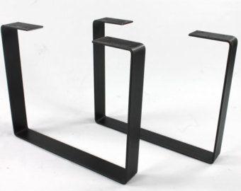 Set Of 2 Steel Legs, Coffee Table Legs, Industrial Table Legs, Bench Legs,  Sofa Table