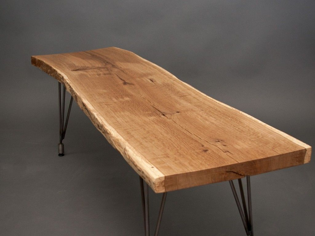 Wood dining table metal legs google search apartment for Wood top metal legs coffee table