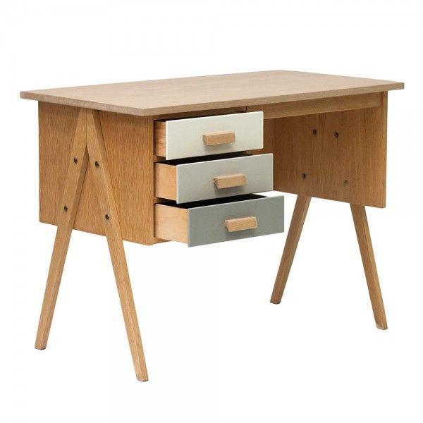 bureau vintage ann es 50 th odore d co en 2019 bureau vintage bureau et meuble bureau. Black Bedroom Furniture Sets. Home Design Ideas