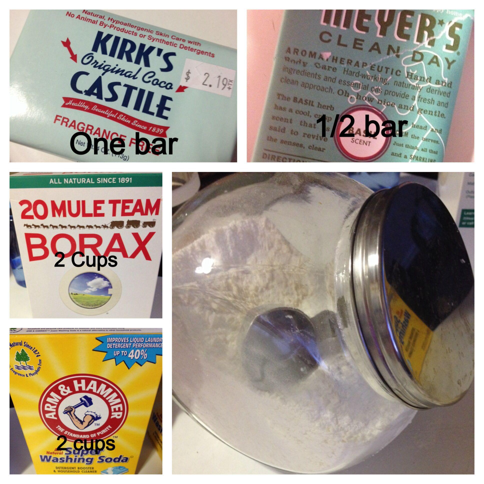 Diy Natural Laundry Detergent 1 Bar Castile Soap 1 2 Bar Mrs