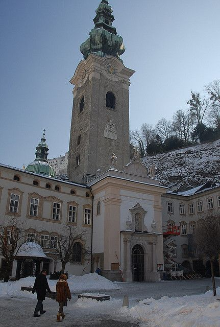 SALZBURG, Austria ~ entrance to the Peterskirkche (church of St. Peter) - right next door (to the right) is the famous Peterskeller -- a fabulous restaurant established by monks hundreds of years ago -- the atmosphere is magical.