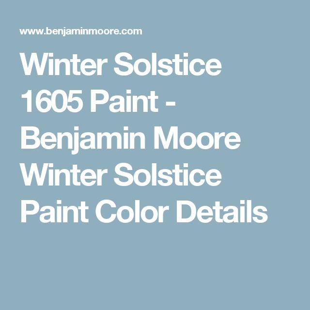 Winter Paint Colors: Winter Solstice 1605 Paint