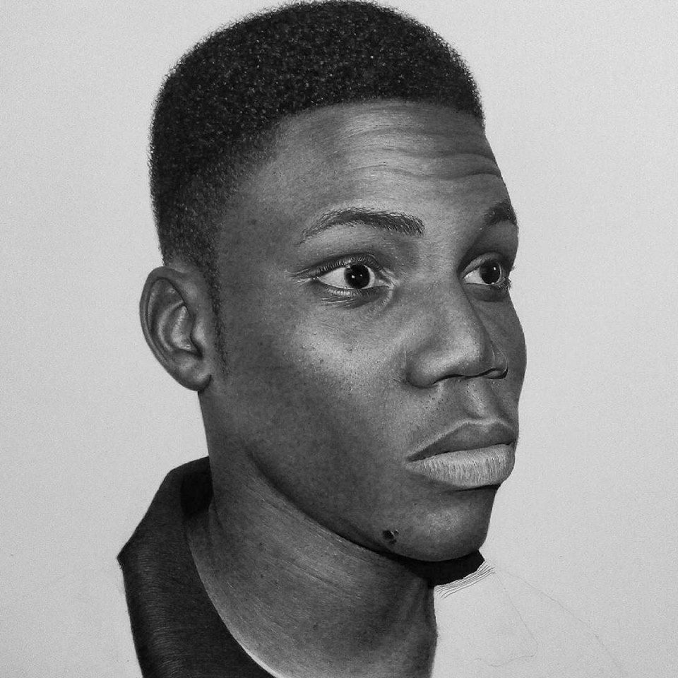 Henry stare 2015 pastel graphite charcoal and water colour pencil