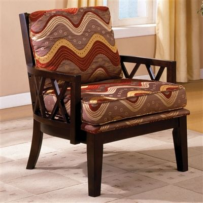 Best Stockport Accent Arm Chair In Dark Walnut Finish Solid 400 x 300