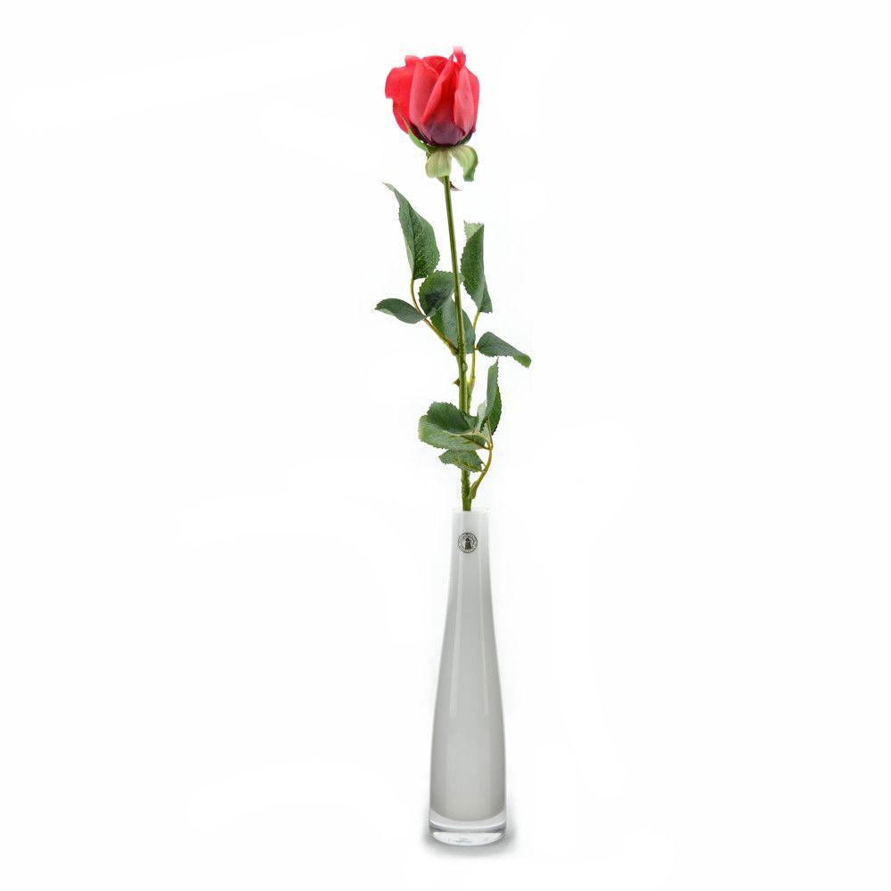 Artificial Silk Flower Arrangement Red Rose In Bud Vase Silk