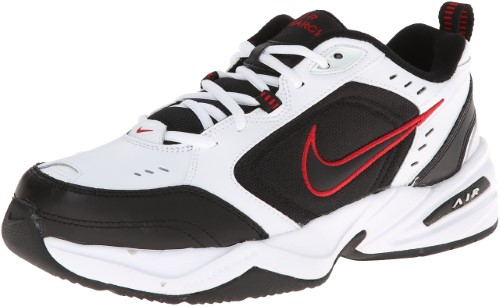 d3502aec0cd Nike Air Monarch IV Training Shoe (4E) - White Black Varsity Red ...
