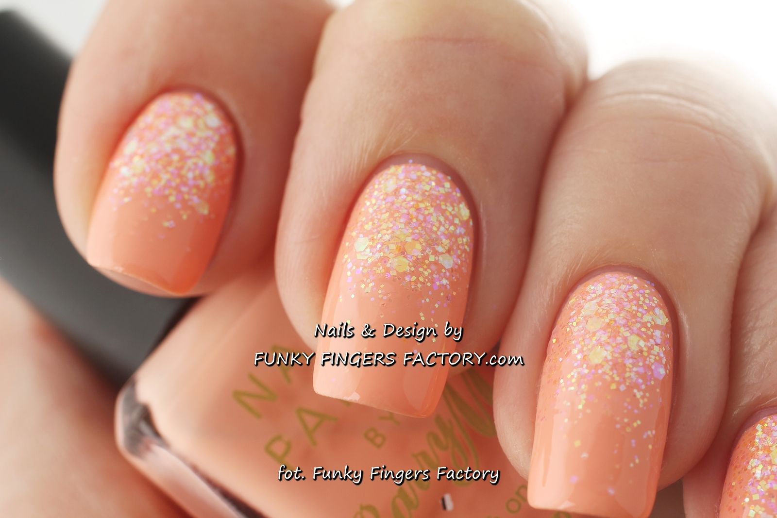 White Glitter Ombre Nails Picture | Nail Arts | totally tumblr ...