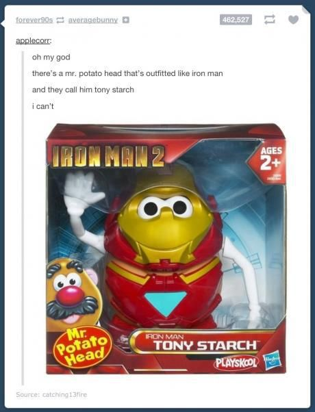 His name is Tony STARCH! Oh the irony.