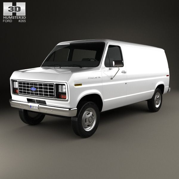 3d Model Of Ford E Series Econoline Cargo Van 1986 Ford E Series