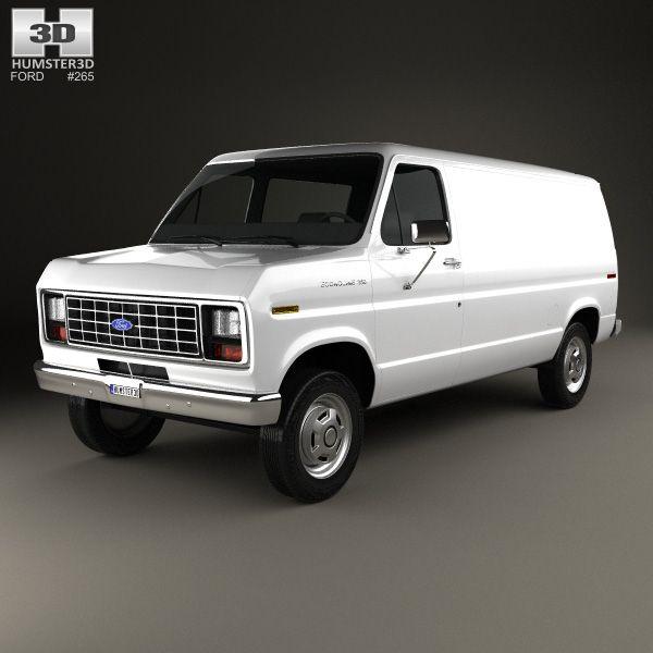 Ford E-Series Econoline Cargo Van 1986 3d Model From