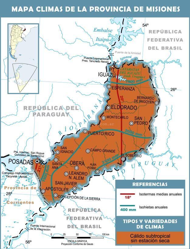 Mapa Climático De MisionesMás Información Httpmapamapscom - Argentina misiones map