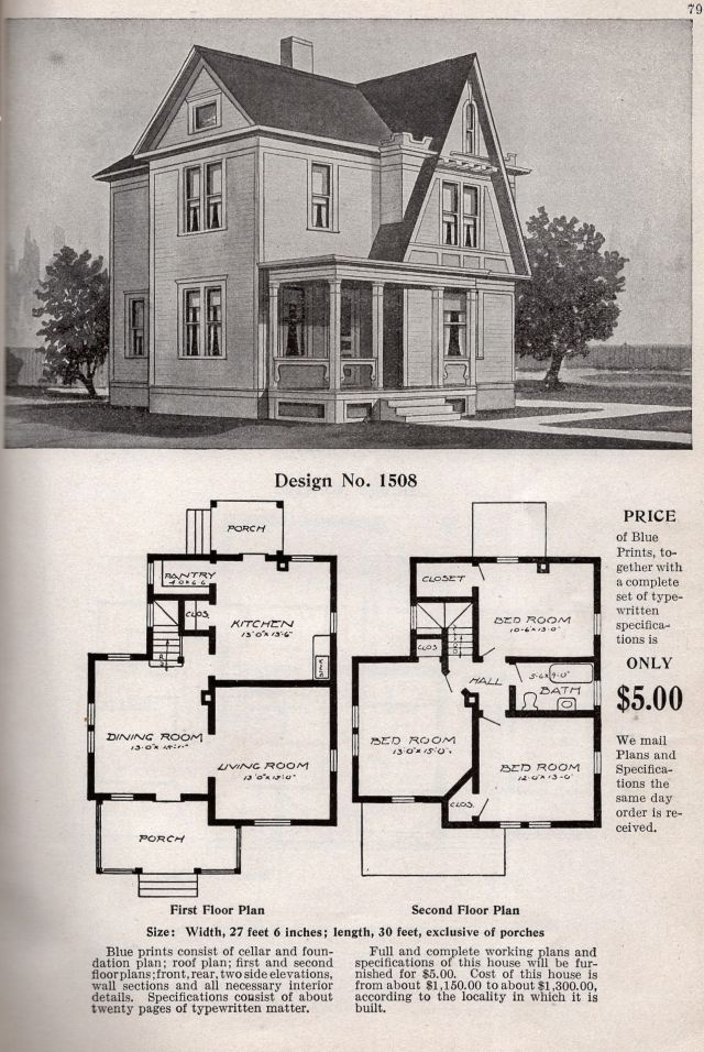 sears home catalog house plans - Google Search | Vintage House Plans on old world courtyard home plans, country house plans, old house blueprints and plans, traditional house plans, this old house classics,