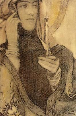L'Encens by Fernand Khnopff :: artmagick.com