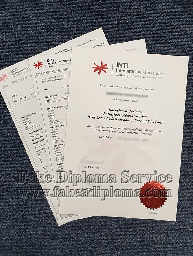 Get Fake INTI International University Diploma In Malaysia