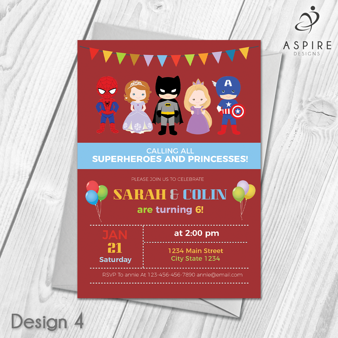 Personalised Childrens Princess and Superhero Birthday Party ...