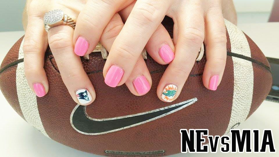 NEvsMIA nails! | Patriots Nails | Pinterest | Patriots, Patriots ...