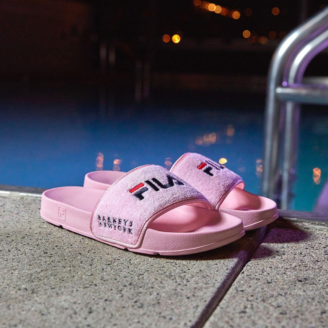 963b4d772156 fila x barneys pink terry slide | Sneakers in 2019 | Nike sandals ...