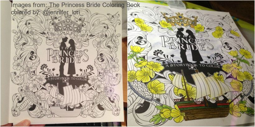 The Princess Bride Coloring Book Title Page Wip Coloring Drawing