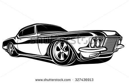 Car Muscle 70s Vector Silhouette Vector Art Pinterest Muscle