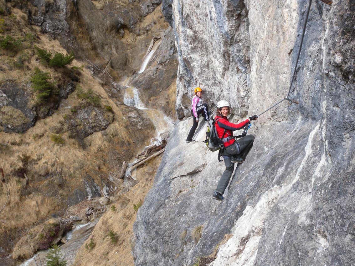 Klettersteig Germany : Klettersteig: hausbachfall klettersteig in deutschland bayern im