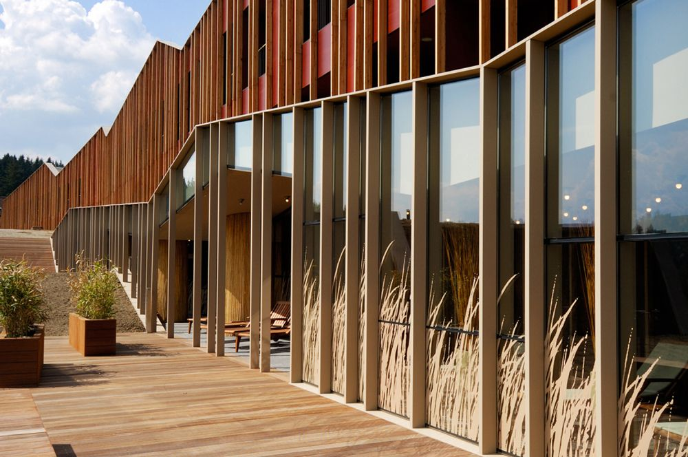 Sotelia hotel enota slovenia architects and facades for Wooden hotel design