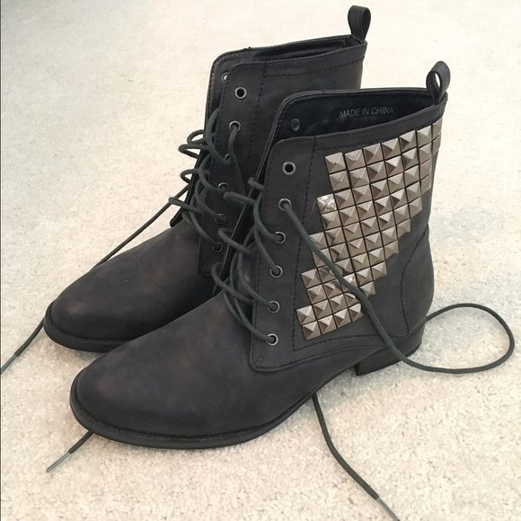 F21 studded boots Never worn studded boots from f21. Size 6. Forever 21  Shoes Ankle Boots   Booties 0566df01dd