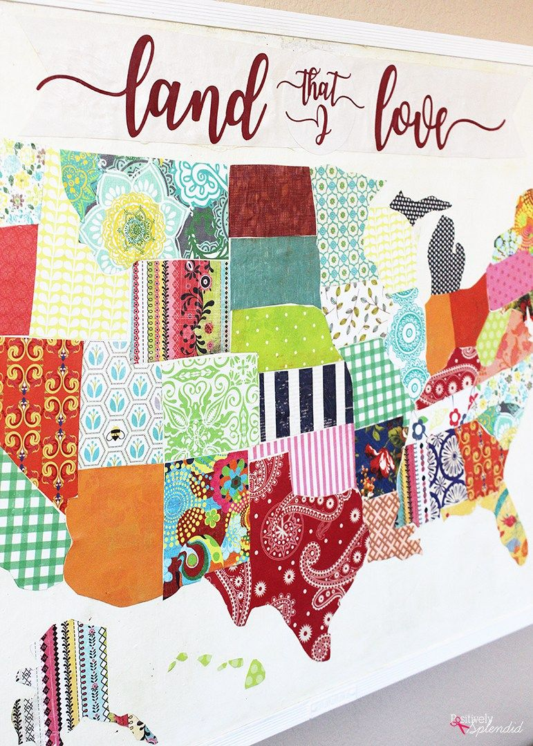United States Map Mod Podge Bulletin Board A fun upcycle