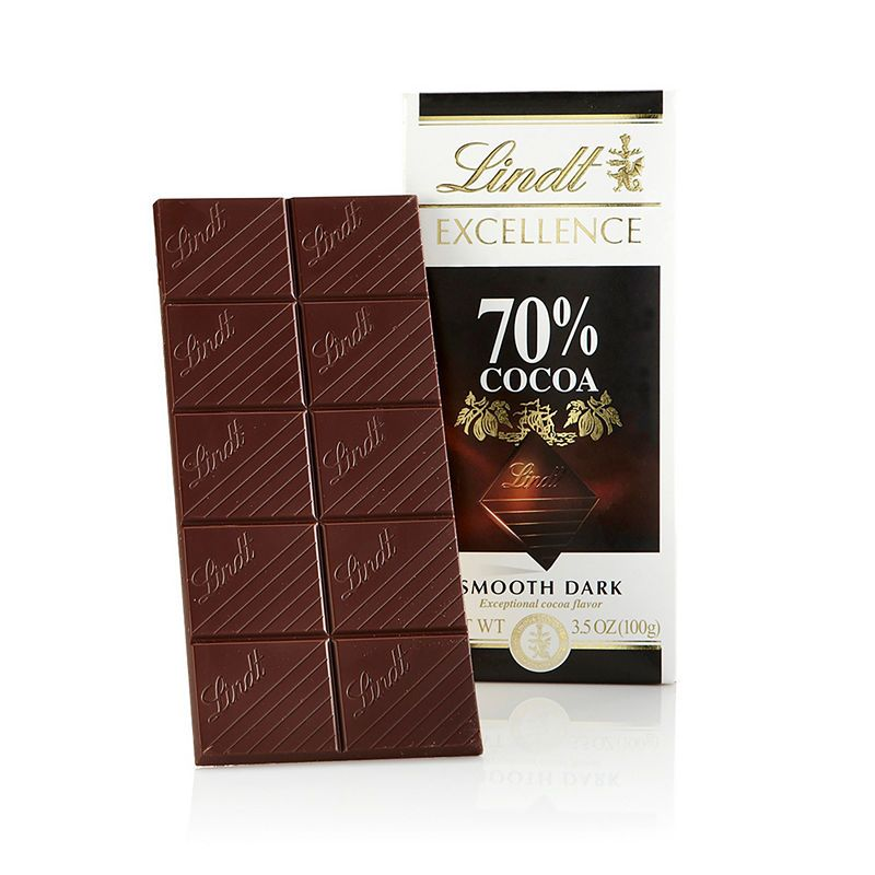 Lindt Excellence 70 Cocoa Bar 35 Oz 12 Count Dark