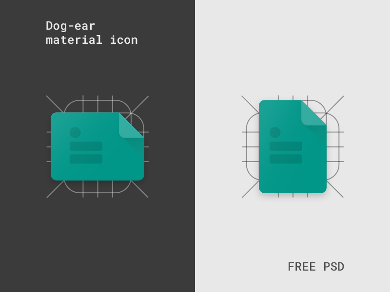 Dog-ear material icon template (Freebie) | Icon | Pinterest | Icons ...