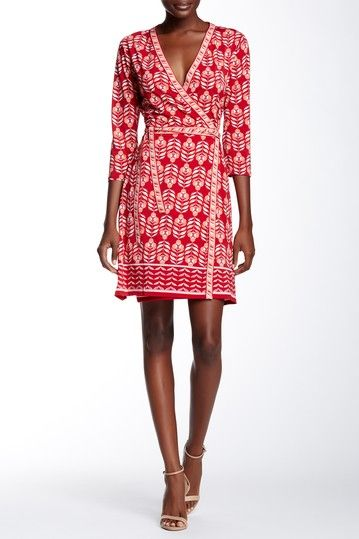 9eedb484 Mixed Print Wrap Dress by Max Studio on @HauteLook | Looking good ...