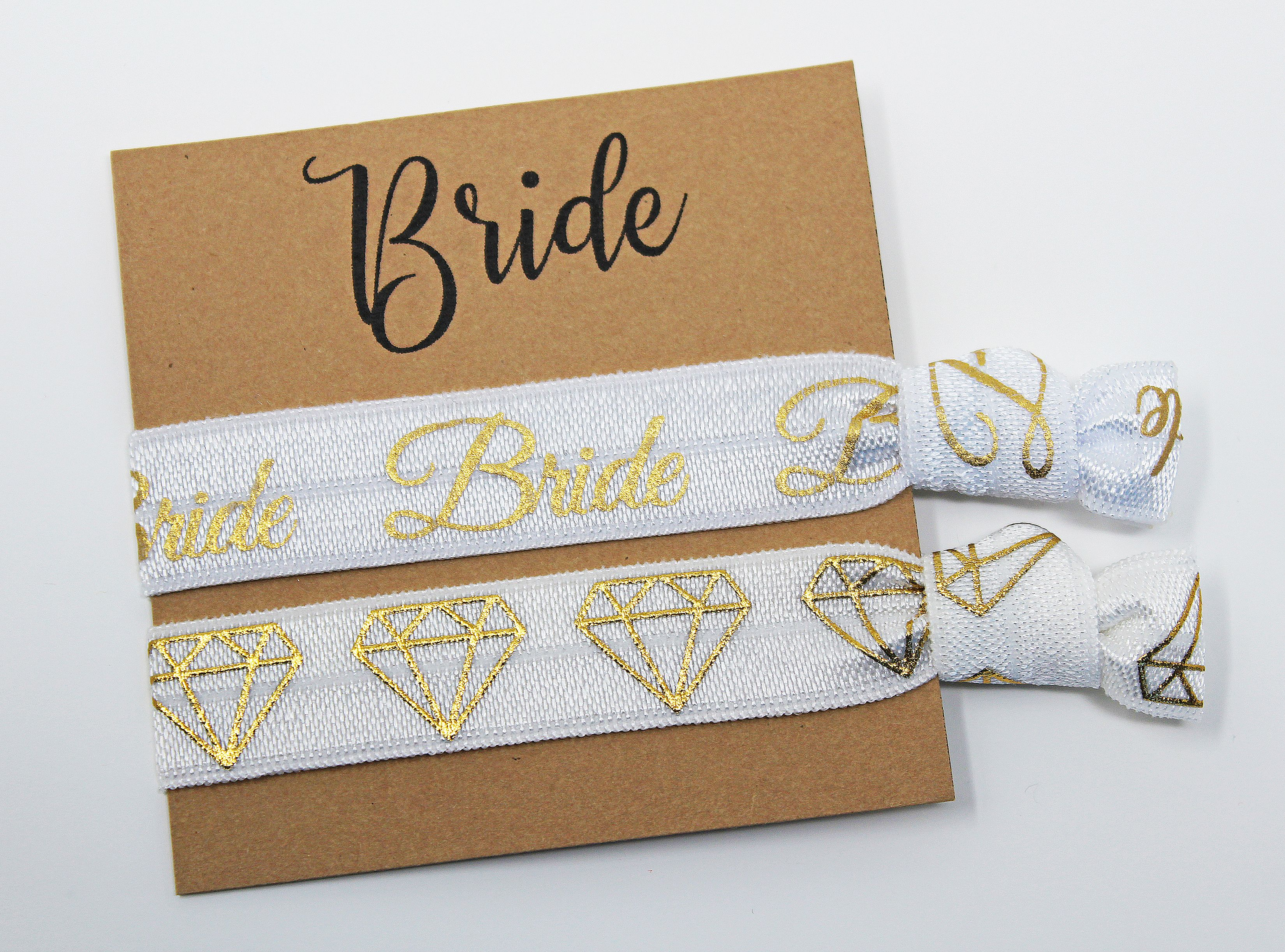 Bride Squad Gift Bride  Bride Squad Hair Tie Bracelet Elastic Hair Ties No Crease Hair Ties Bridesmaid Proposal Gifts