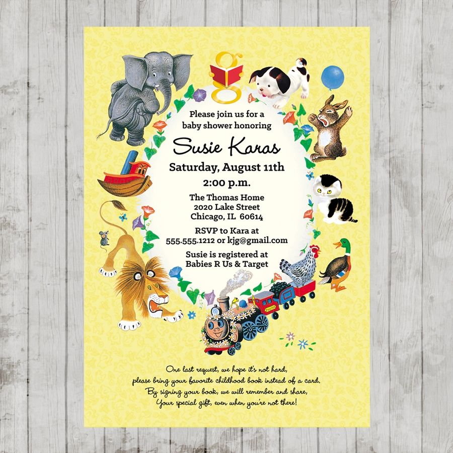 Little Golden Books Baby Shower Invitation | Baby Alswede - Post to ...