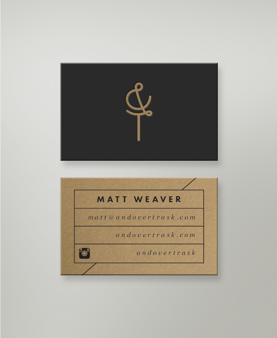 Business Cards by Andover Trask minimal cardboard kraft paper ...