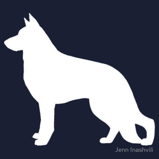 White German Shepherd Dog Silhouette | Unisex T-Shirt | Pinterest ...