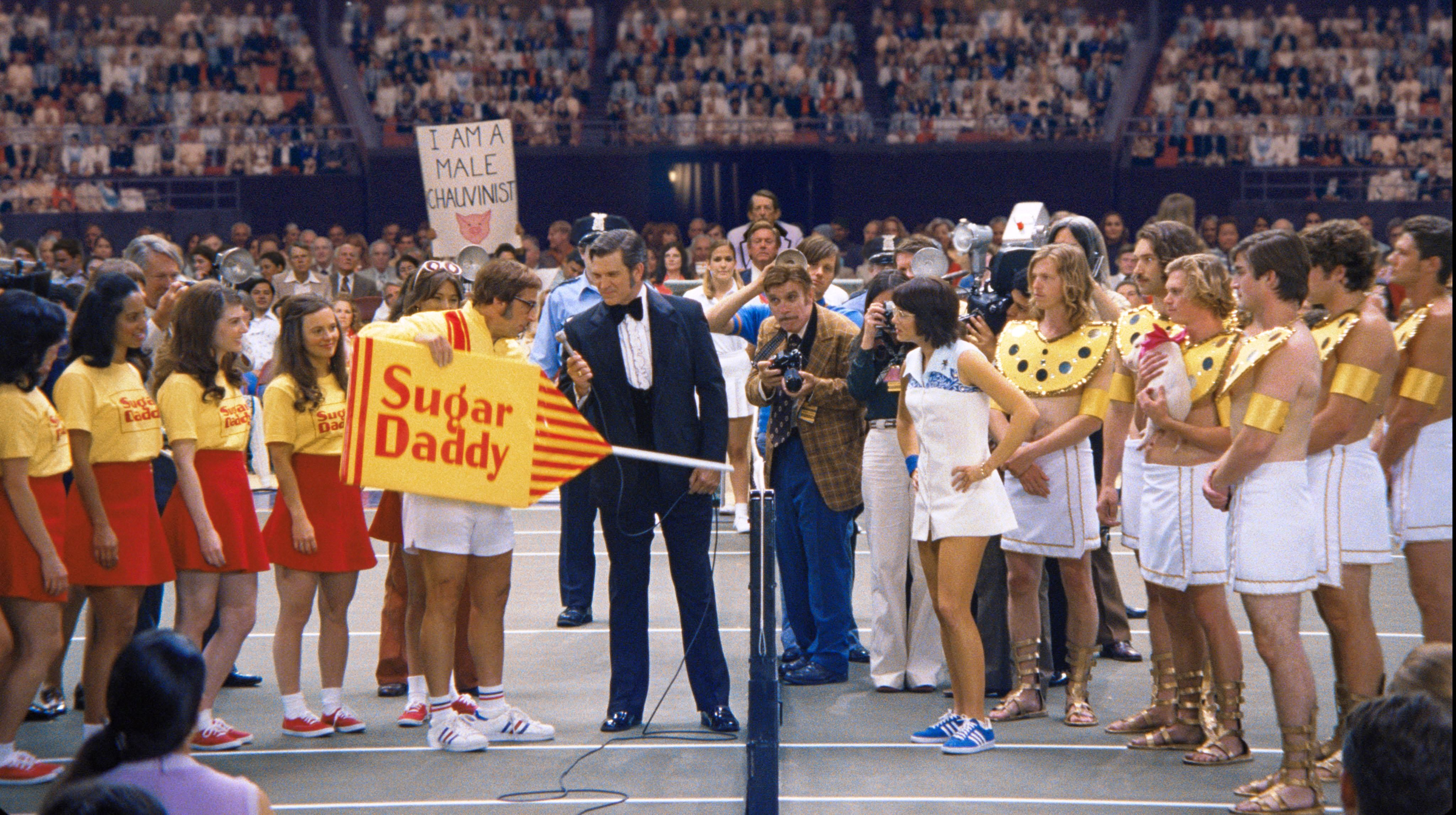 Battle Of The Sexes Movie Still 2017 L To R Steve Carell Emma