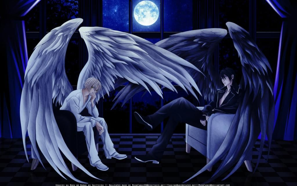 Fan Art Brought Together Anime Backgrounds Wallpapers Angel Wallpaper Cool Anime Wallpapers Dark angel anime wallpaper