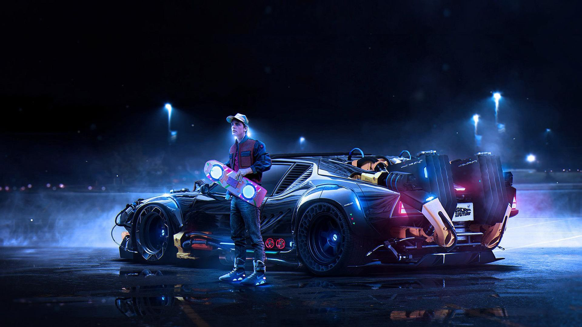 Skachat Oboi Nazad V Budushee Back To The Future Marty Mcfly Car