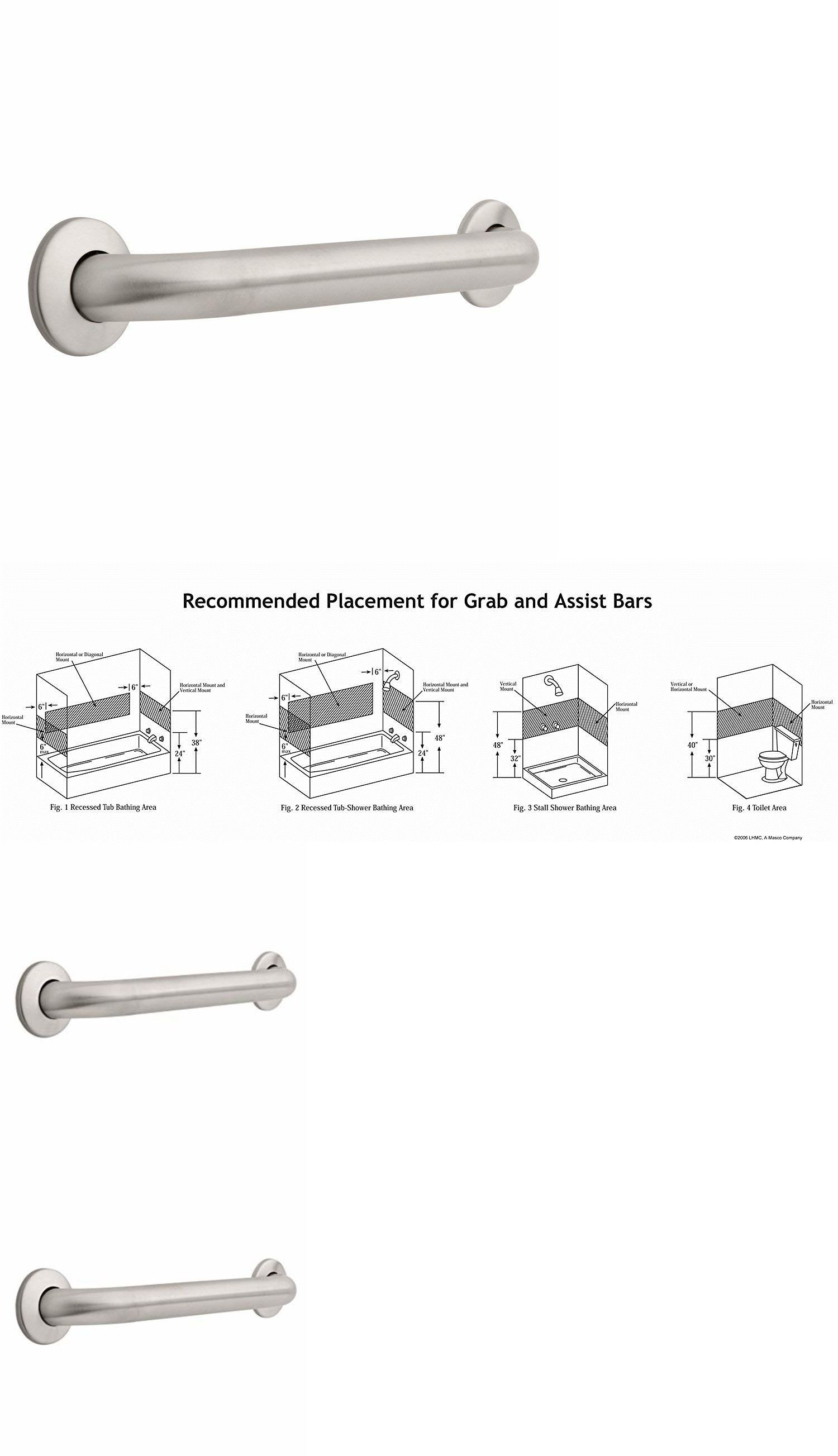 Stainless steel safety grab bar for bathroom handicap handle wall