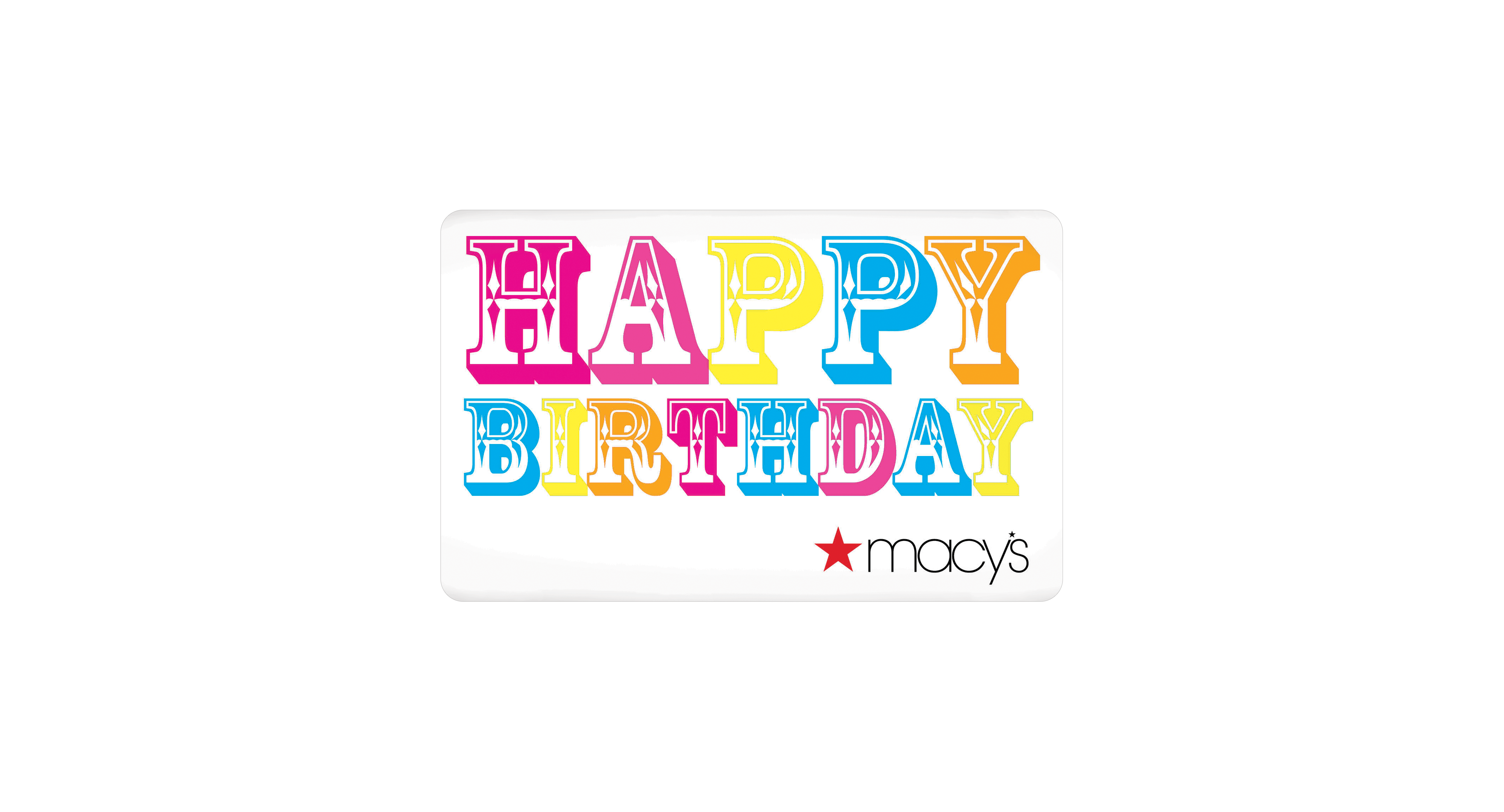 Happy Birthday Color Gift Card With Greeting