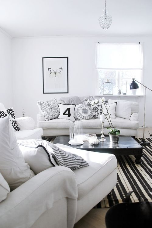 Lovely Details Black And White Living Room Home Living Room Home