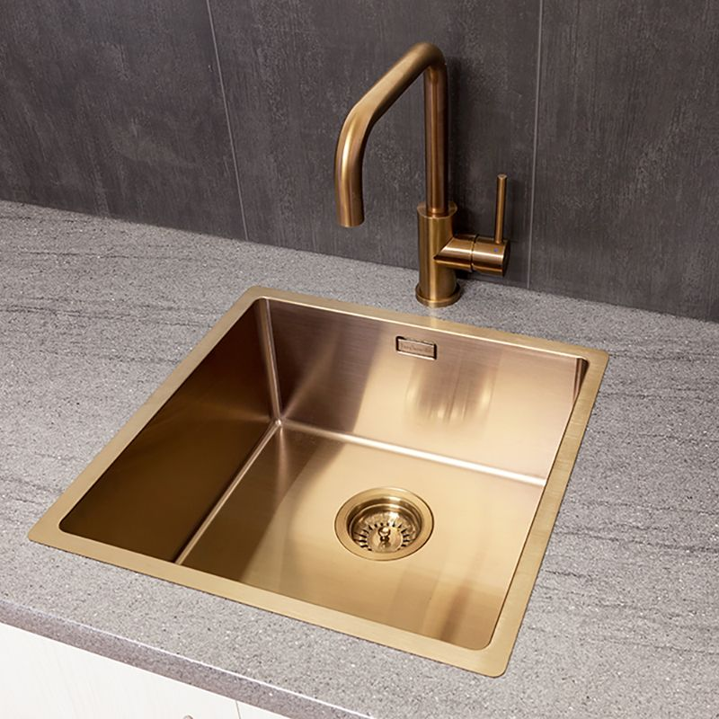 Groovy Reginox Miami 40 X 40 Stainless Steel Copper Coloured Sink Interior Design Ideas Apansoteloinfo