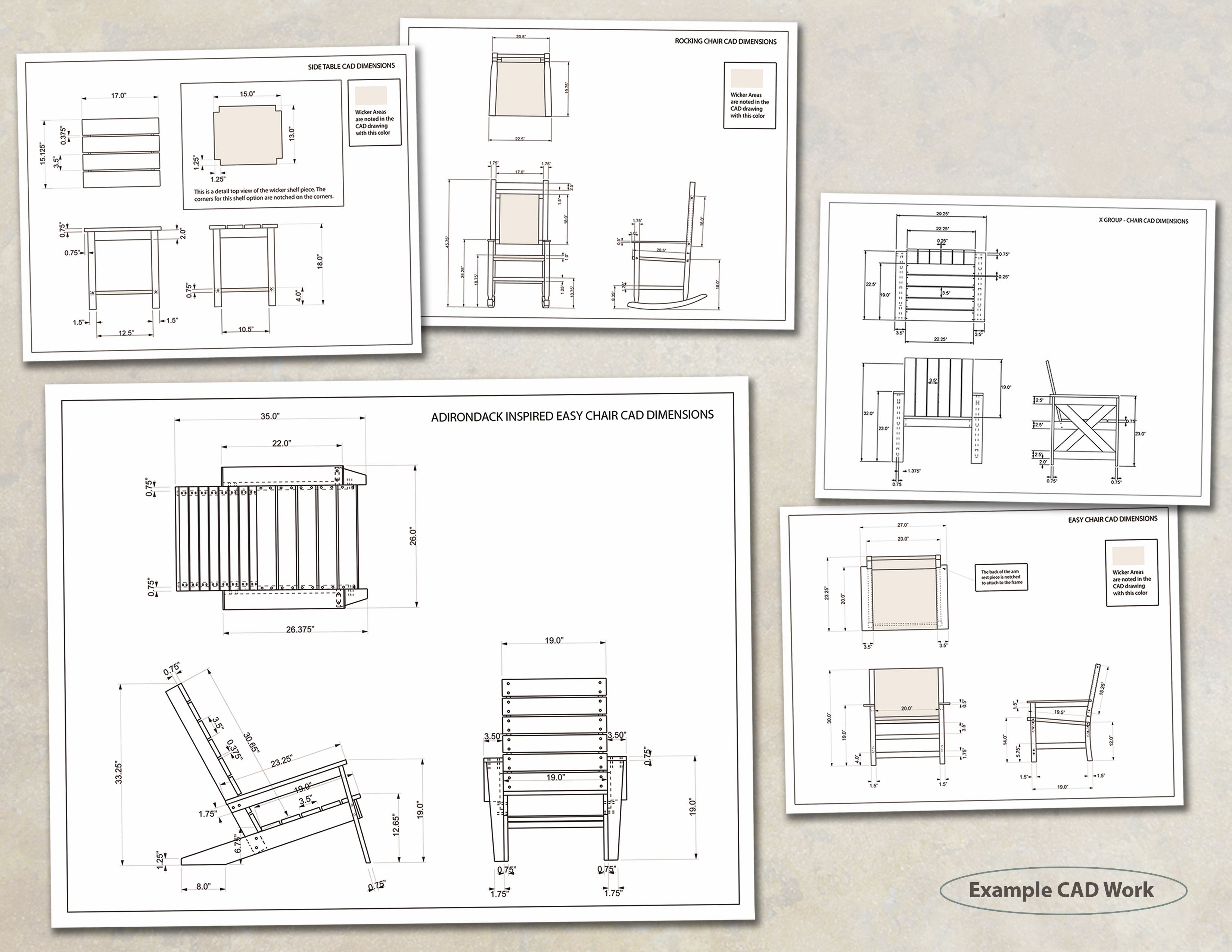 Original 184136 3300 2550 for Chair design drawing