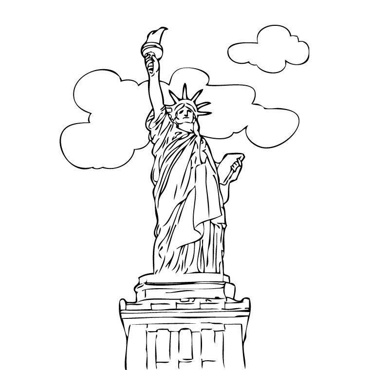 Coloriage 16429 dessin paysage colorier new york - Dessin a colorier paysage ...