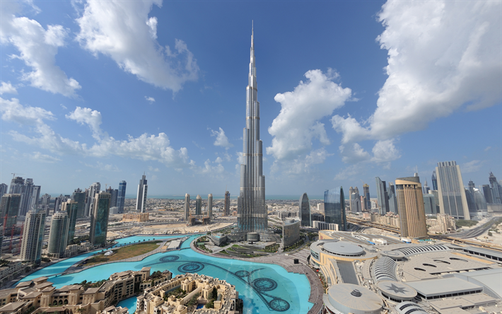Download Wallpapers 4k Burj Khalifa Panorama Modern Buildings Cityscapes Uae Skyscrapers Dubai Besthqwallpapers Com Lugares Incriveis Para Visitar Burj Khalifa Lugares Para Visitar