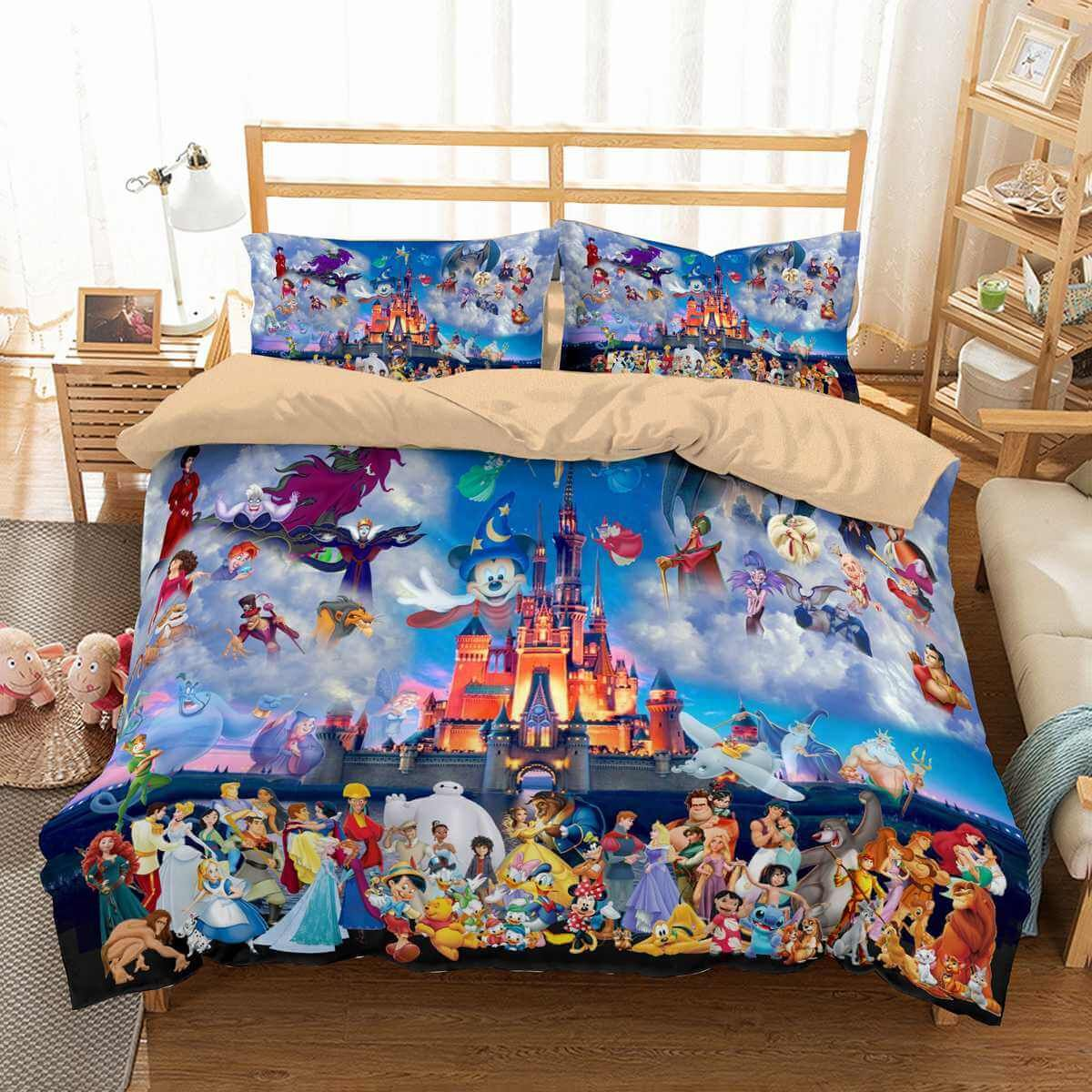 3d Customize Disney Bedding Set Duvet Cover Set Bedroom Set